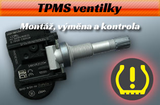 TPMS ventilky - servis